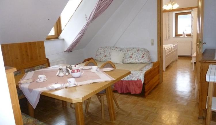 Wohnzimmer XL Apatment Wollstube (© berger)
