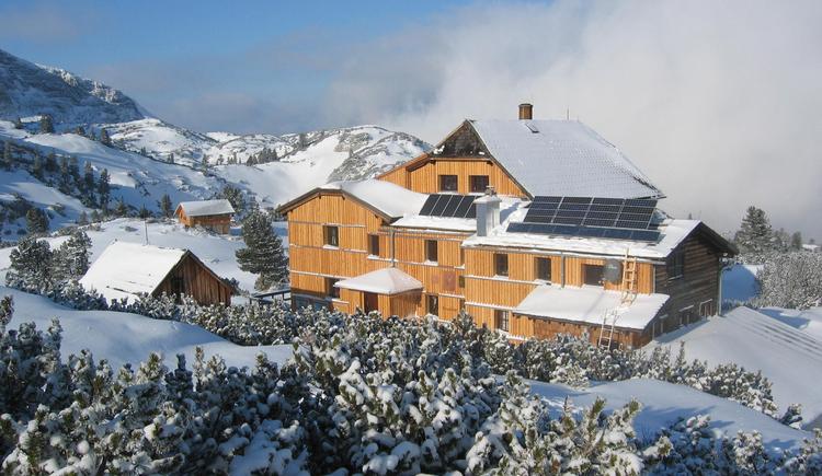 Die Naturfreundehütte Wiesberghaus befindet sich am Dachstein. (© Wiesberghaus)