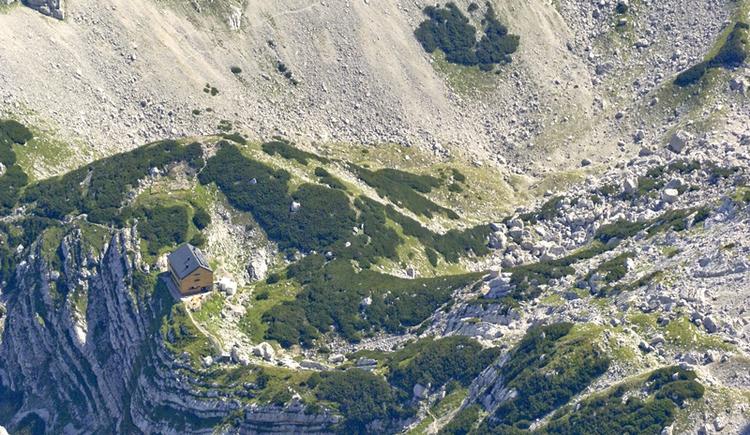 Blick vom Schermberg auf die Welser Hütte