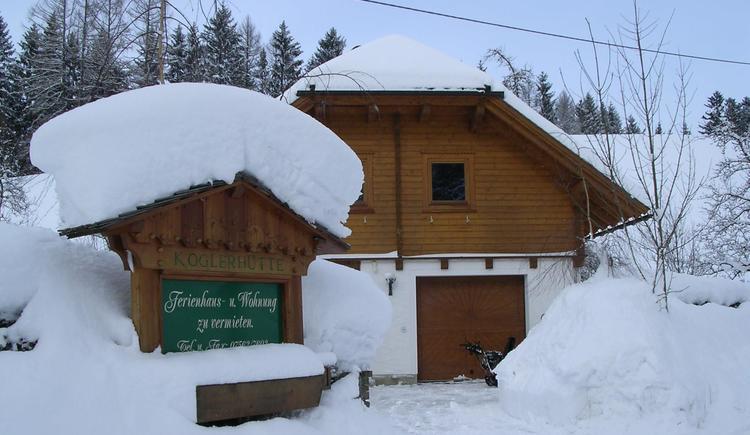 Kleines Ferienhaus Koglerhütte - Winter (© Margarete Gösweiner)