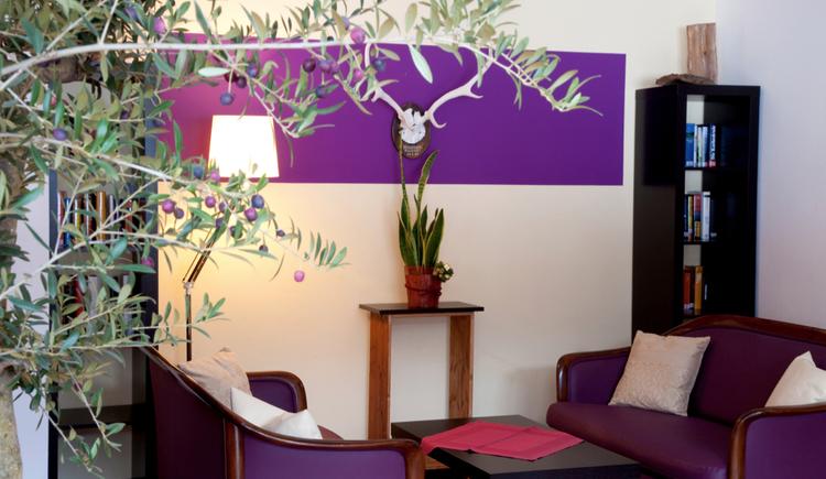 Hotel Gosau Chillout Lounge wohlfühlen. (© Vitalhotel Gosau)