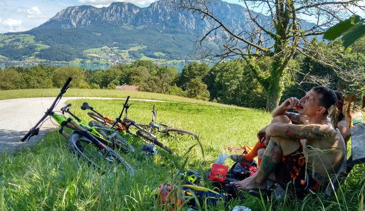 Montainbike Tour verdiente Pause %c2%a9 Bettina Ratzinger (© Bettina Ratzinger)
