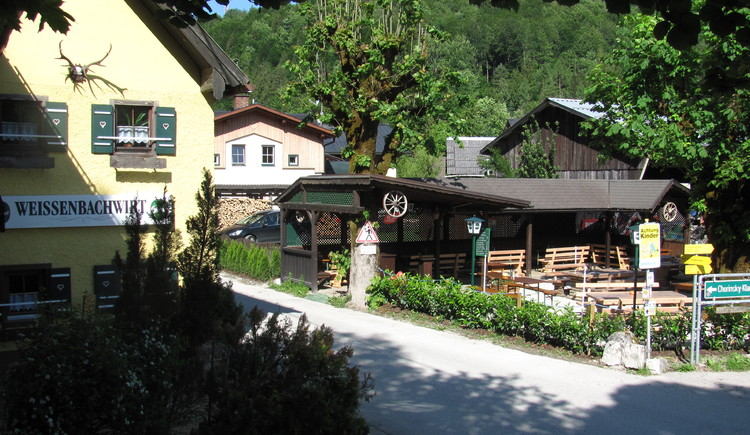 Direkt vor der Mountainbiketour Weissenbachrunde liegt der Weissenbachwirt.