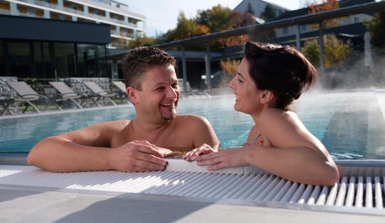 Sauna-Außenbereich (© Hotel Lebensquell Bad Zell)