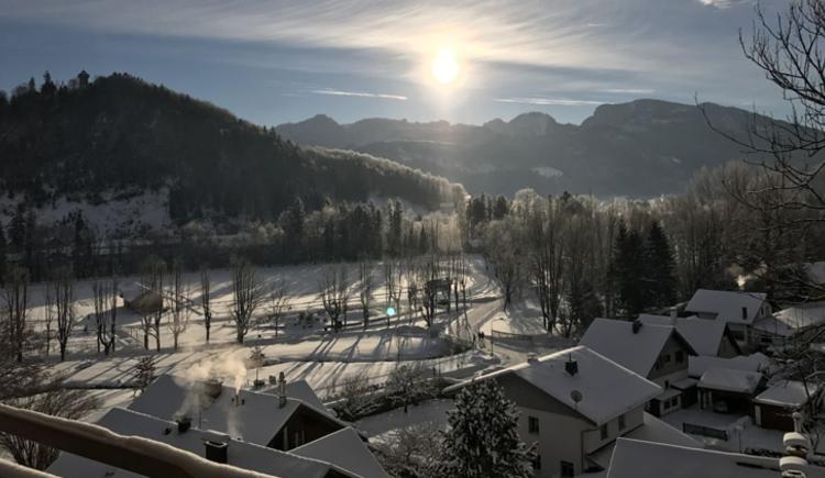 Winterstimmung, Aussicht vom Balkon