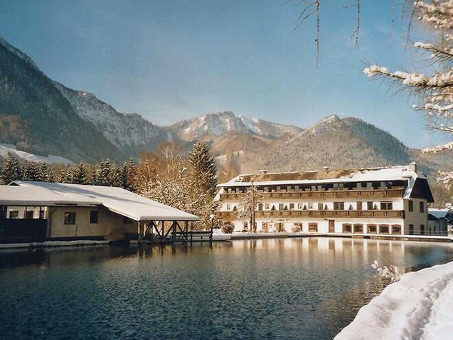 Winteransicht Forellenhof (© Forellenhof Wieselmühle)