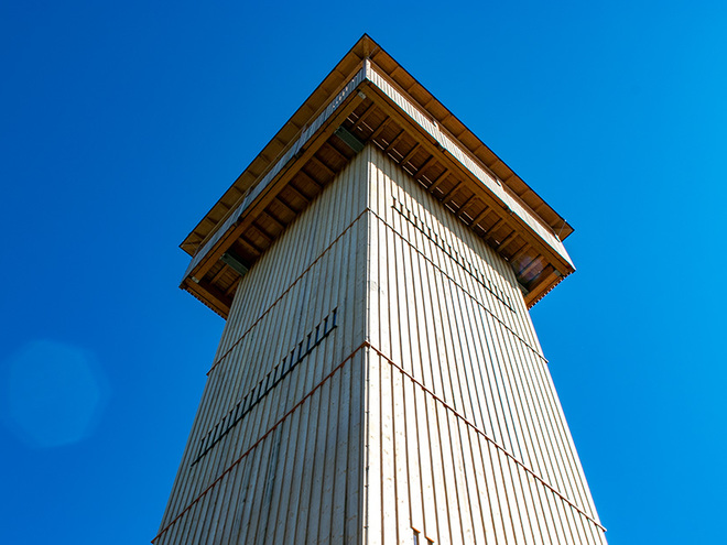 Der Aussichtsturm Kulmspitz (© TVB Mondsee-Irrsee)