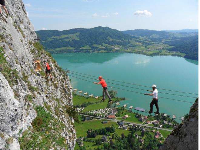 Hängebrücke Drachenwand (© Tourismusverband MondSeeLand)