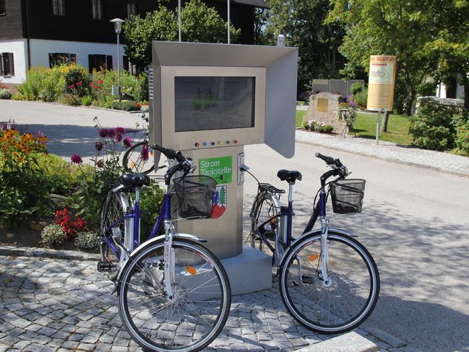 E-Bike-Ladestation (© Gemeinde Windhaag)