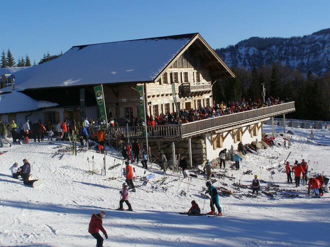 Sonnalm im Familienskigebiet Kasberg in Grünau im Almtal