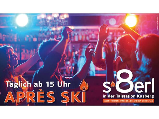 8erl - the bar in the basestation of the Kasberg ski resort