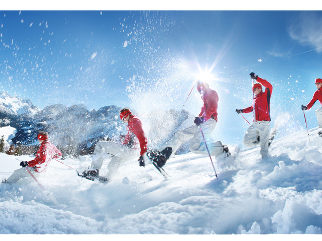 Schneeschuhwandern am Krippenstein (© OÖTourismus/Andreas Roebl)