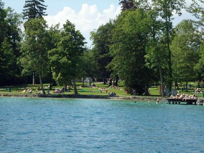 Sprinzensteinpark public beach