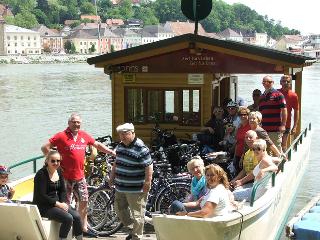 Bicycle Ferry Mauthausen-Enns