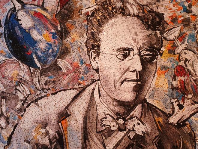 Gustav Mahler Mosaik von Christian Ludwig Attersee