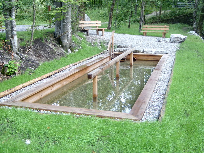 Water-treading garden in Faistenau at lake Hintersee