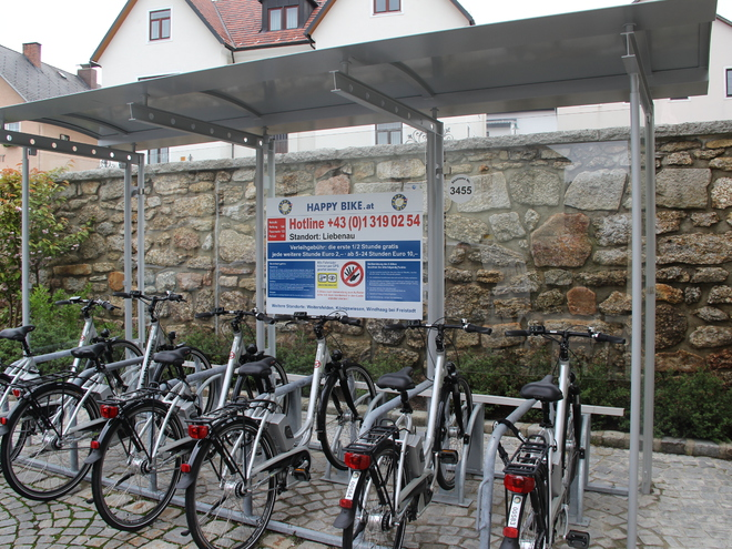 E-Bike Verleihstation Liebenau
