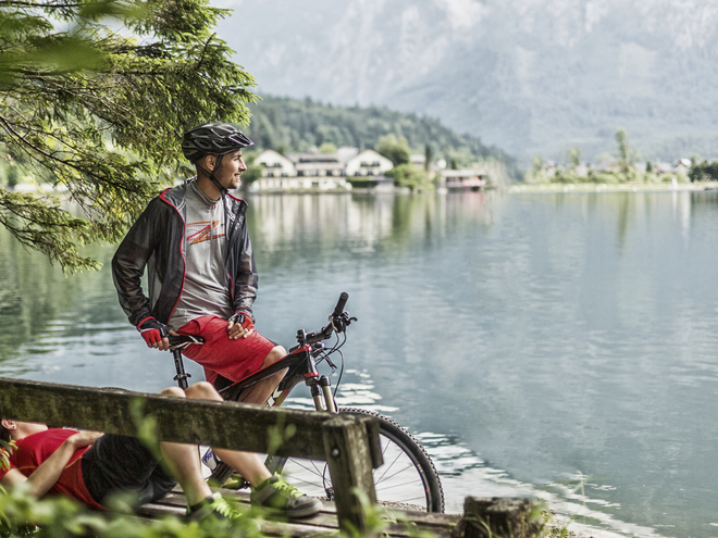 East bank bike trail at Lake Hallstatt