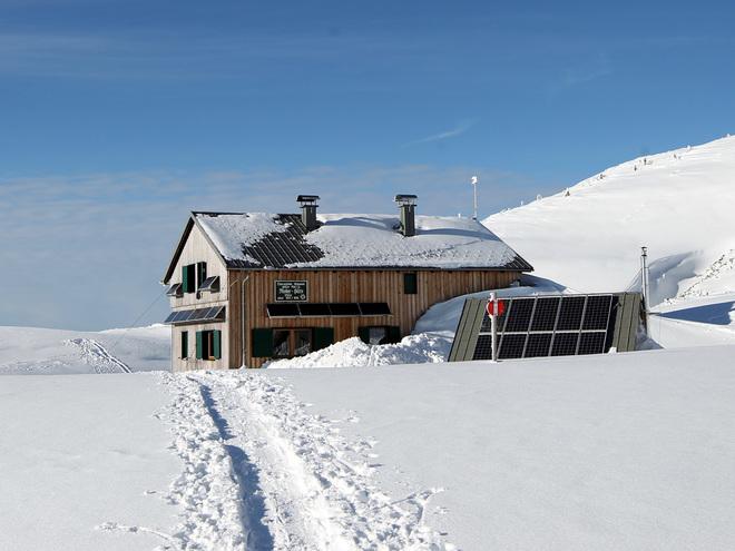 Schneeschuhwanderung vom Feuerkogel zur Riederhütte