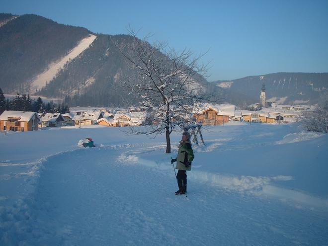 Winterwanderweg zum 'Felsenbad'
