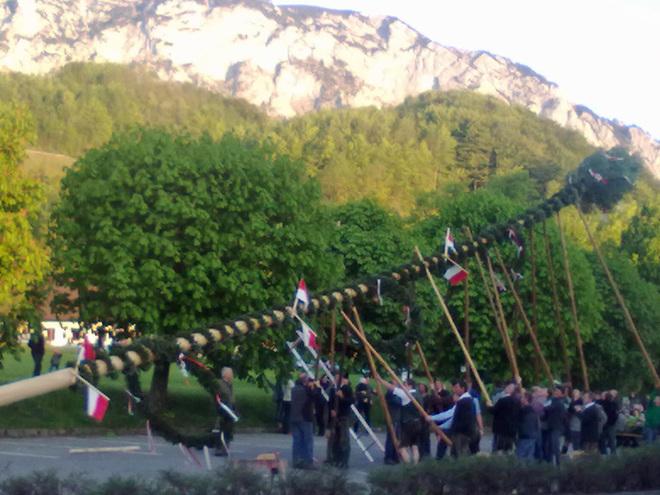 Maibaumsetzen in Steinbach am Attersee