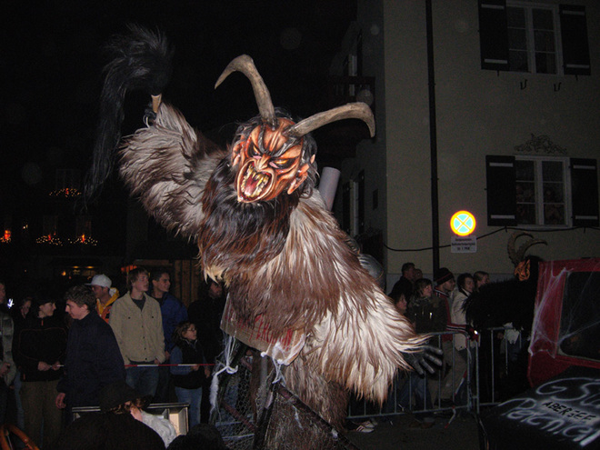 Traditional Krampus Run by Zottl-Pass St. Gilgen