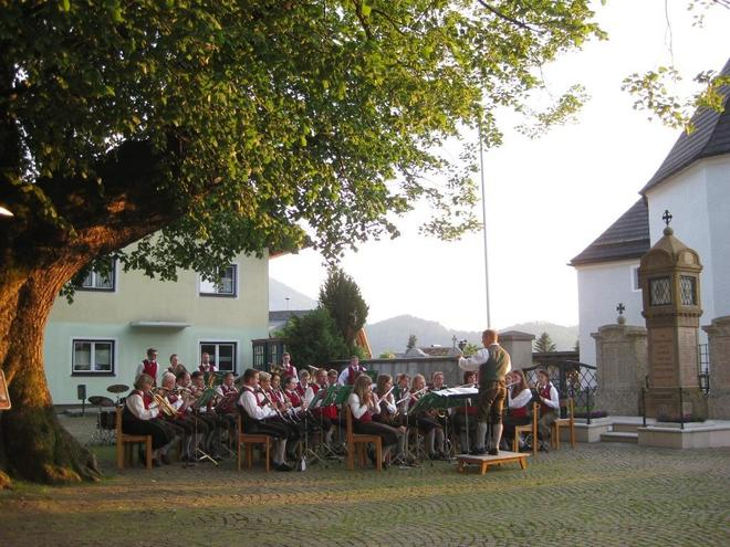 Summer concert at the village square