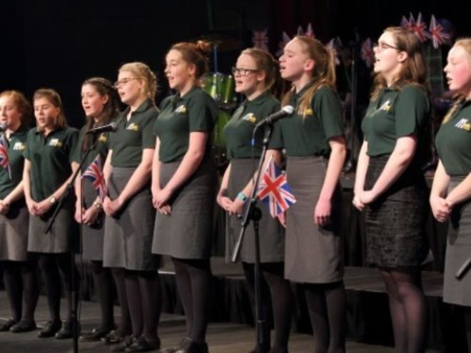 Gastkonzert der 'Gordons School Band, Choir and Marching Band'
