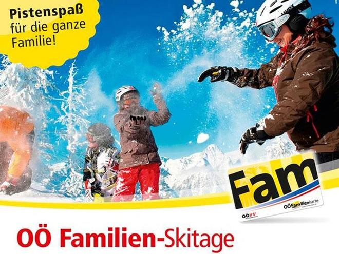 Family ski day at Kasberg - ski area in the Almtal