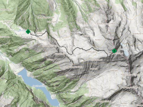 Gipfelwanderung Ahornbahn Bergstation - Ahornspitze