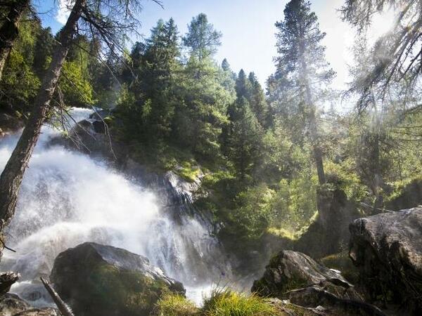 Natural monument Schrauben Waterfall