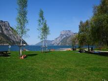 Freizeitanlage Rindbach am Südufer des Traunsees