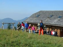 Hiking to the 'Lärchen' alp with the Kneipp association of Fuschl am See