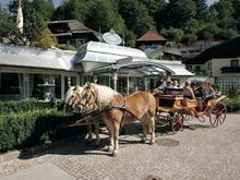 Horse drawn carriage ride in Fuschl am See