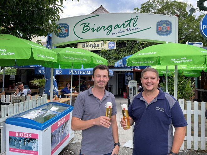 Biergartl an der Donau