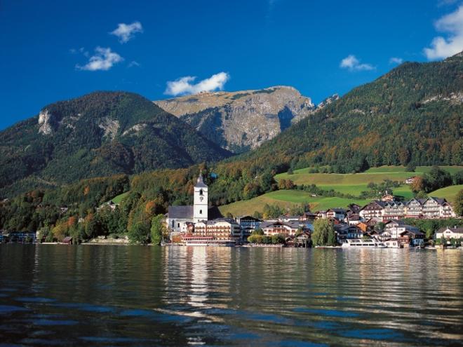 Blick auf St. Wolfgang (© Tourismus Oberösterreich)
