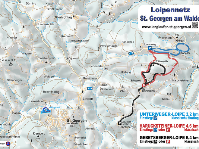 Loipen St. Georgen am Walde