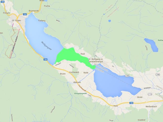 Fischen Angelparadies Wolfgangsee - Teilgebiet Ried / Schwand