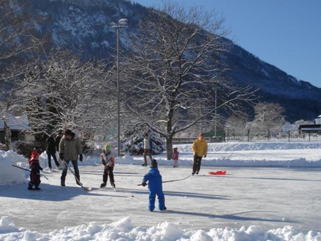 Eislaufplatz in Unterach am Attersee