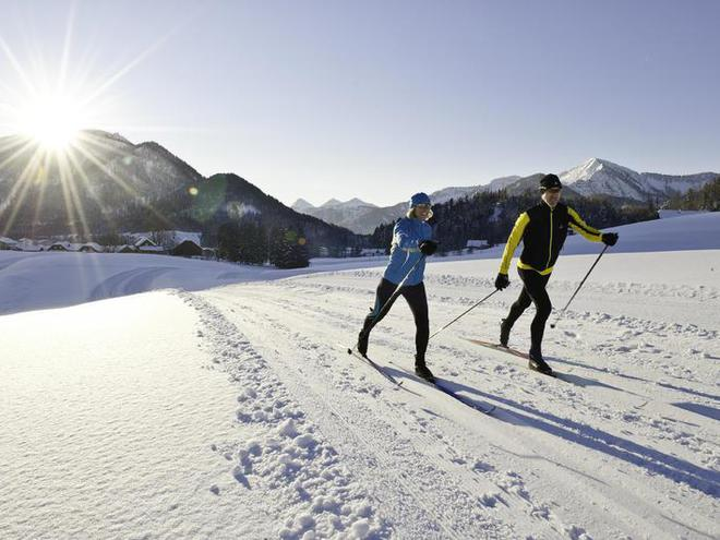 Cross country skiing in Faistenau