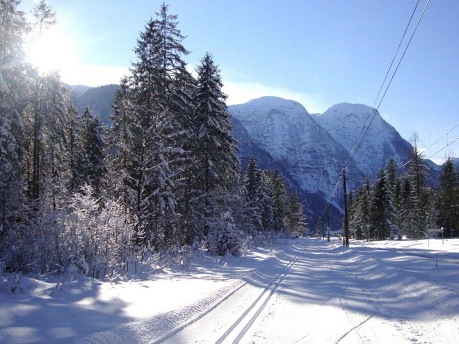 Cross country skiing trail Obertraun