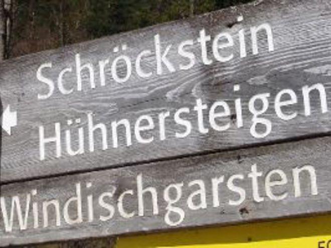 Schröckstein - kleine Hühnersteige - Bahnhof Pießling