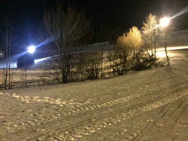 Koppl cross-country ski trail with floodlight
