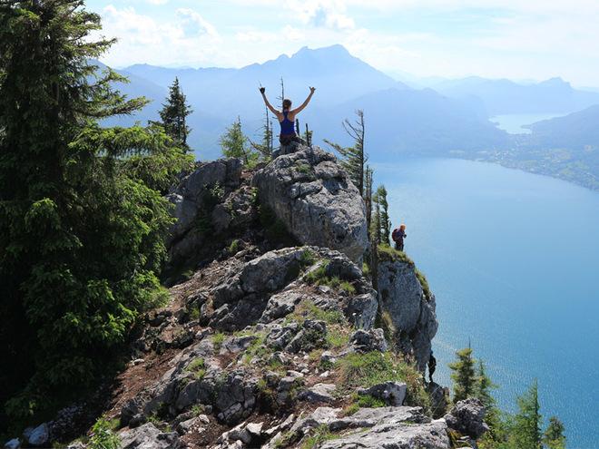 Attersee Klettersteig Mahdlgupf