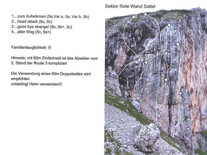 Klettergebiet Rote-Wand-Sattel