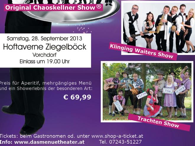 menütheater - die original chaos kellner tour in der Hoftaverne Ziegelböck