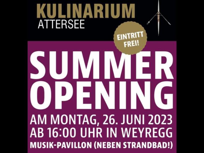 Kulinarium Attersee SUMMER-OPENING am 26. Juni 2017