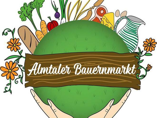 Almtaler Bauernmarkt am Kirchenplatz in Scharnstein im Almtal