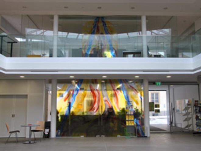 Atrium des Gemeindezentrums Sandl