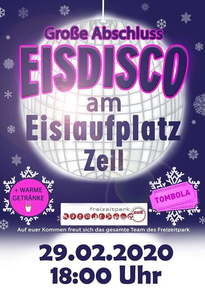 VORVERLEGT! Eisdisco am Eislaufplatz in Zell